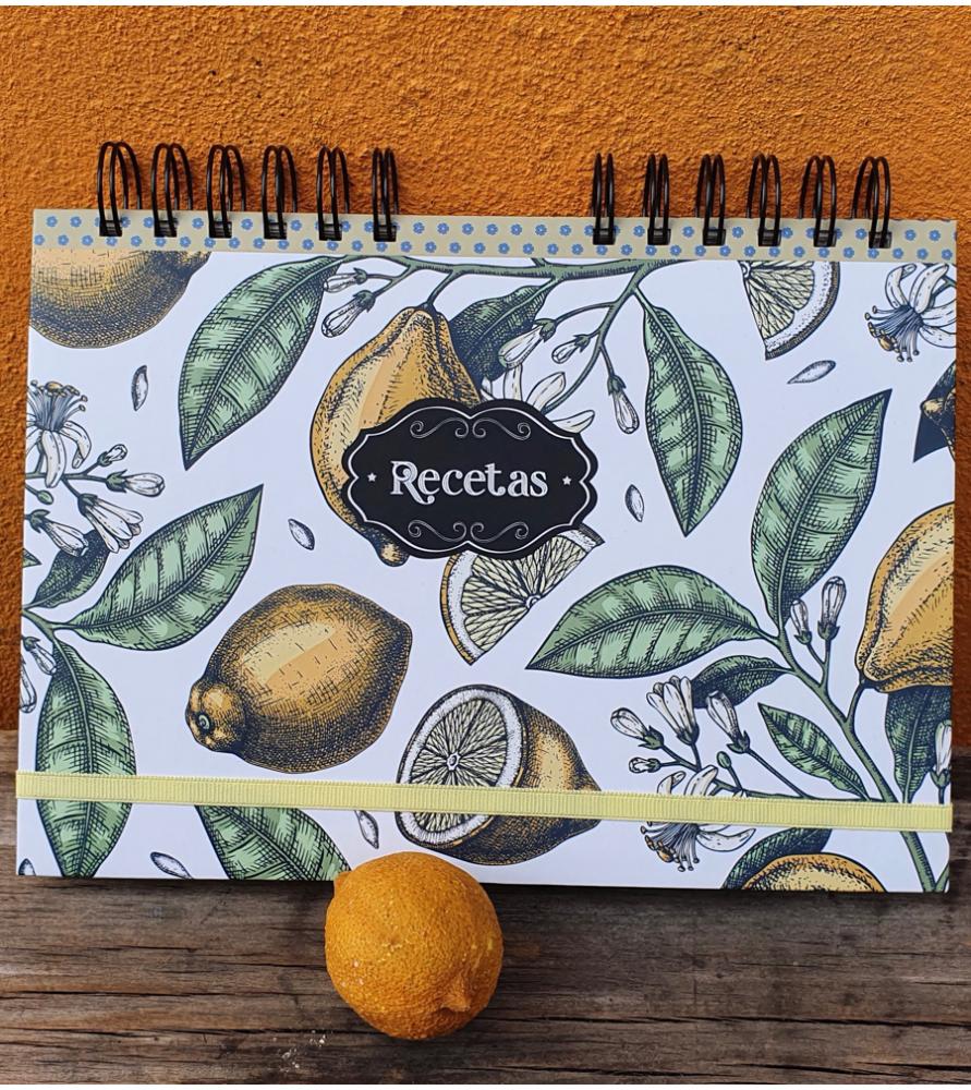 Cuaderno Recetas Limón