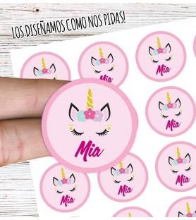 Stikers Adhesivos REDONDOS / 100 Unidades (DISEÑADOS A TU GUSTO)