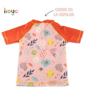 Remera UV50+ Mangas Cortas FLOWERS